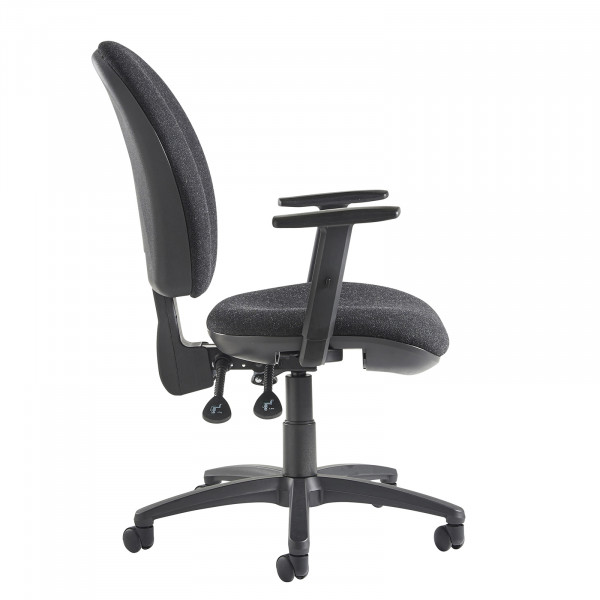 Lento high back operator chair adjustable arms charcoal