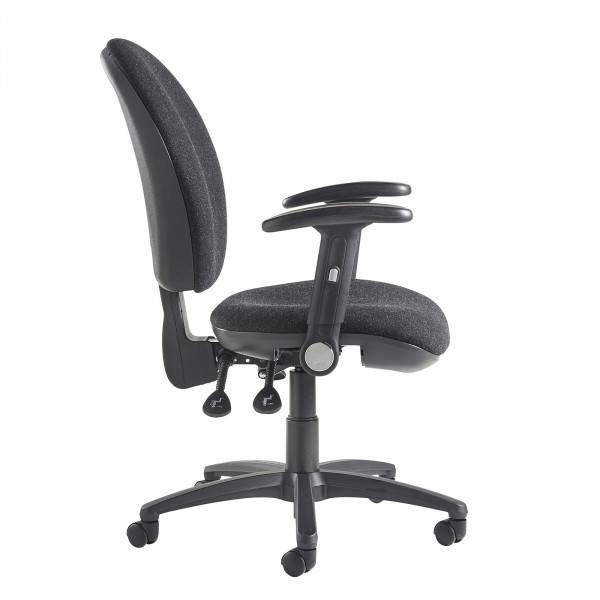 Lento high back operator chair folding arms charcoal