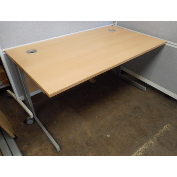 Straight Beech Desk
