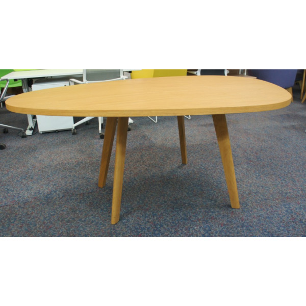 Orangebox Oak Pear Shaped Table