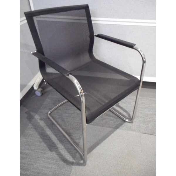 ICF Stick ATK Black Low Mesh Back Meeting Chair