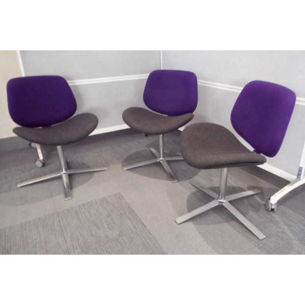 Purple & Grey Meeting Chair
