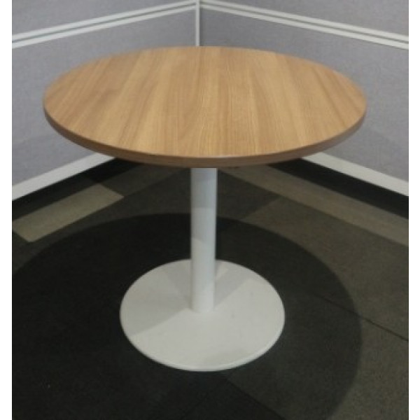 Steelcase Pale Walnut 800 diameter Meeting Table