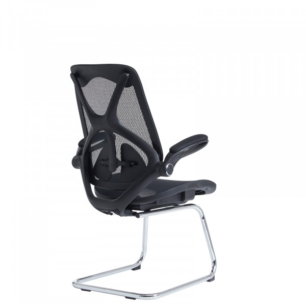 Napier mesh visitors chair - black
