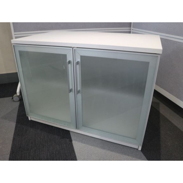 White 730h D/D Cupboard