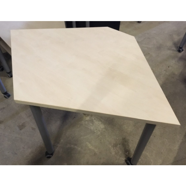 Maple Trapezoid Flip Top Table