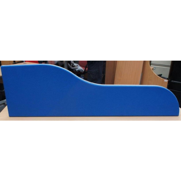 Blue 1400mm Wave Desk Mounted Screen