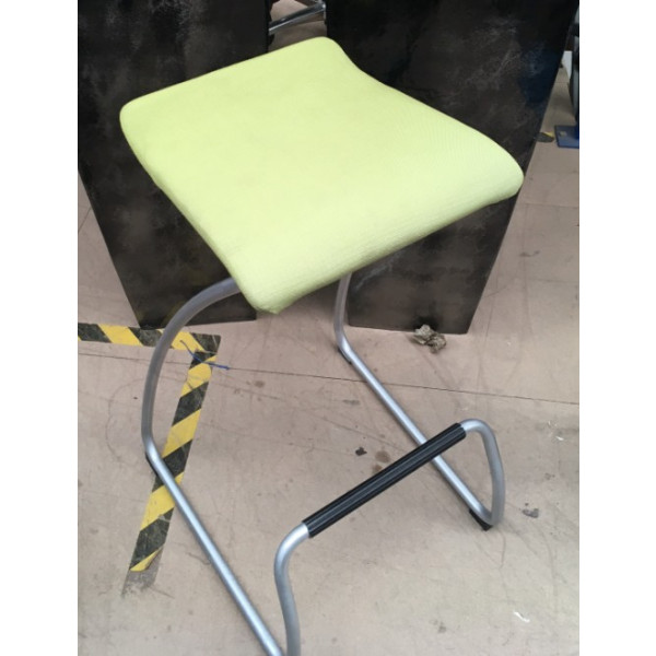 Orangebox Lime Green High Stool with Foot Bar