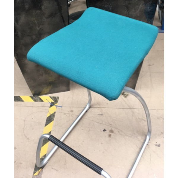 Orangebox Teal High Stool with Foot Bar