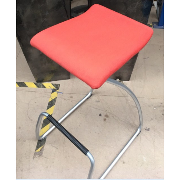Orangebox Orange High Stool with Foot Bar