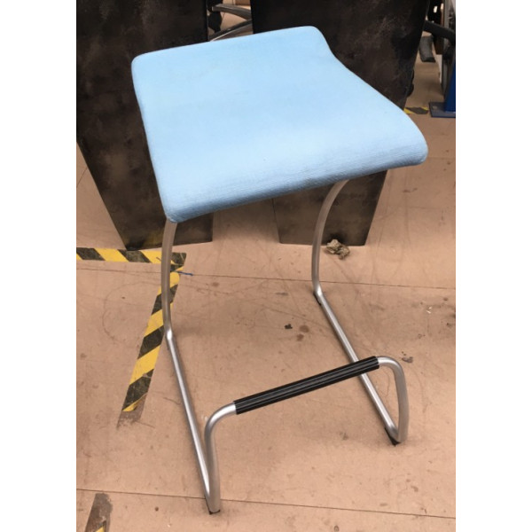 Orangebox Light Blue High Stool with Foot Bar