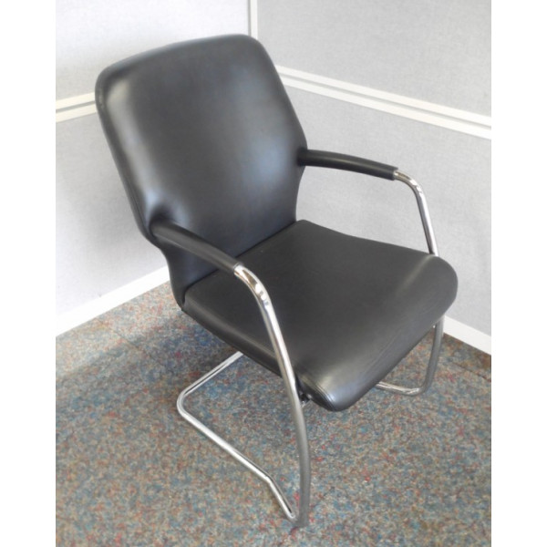 Boss Key Black Leather Meeting Chair