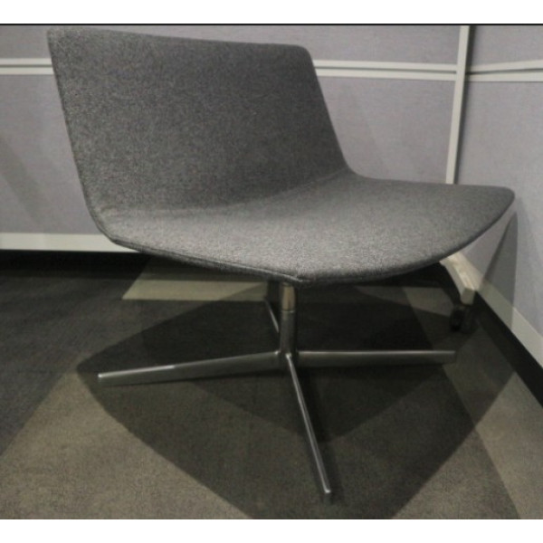 Dark Grey Arper Catifa 60 Lounge Swivel Chair