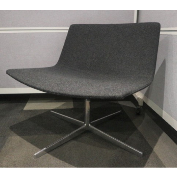 Charcoal Arper Catifa 60 Lounge Swivel Chair