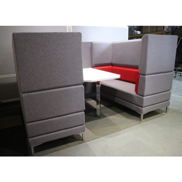 Grey & Red Seating Booth