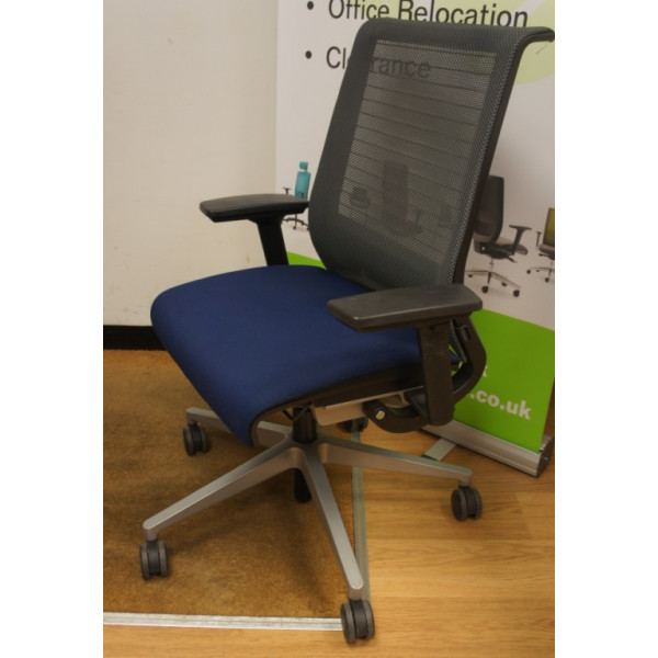 Steelcase Think Grey Mesh Back Operators Chair