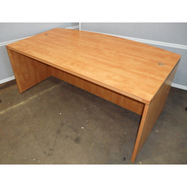 Cherry Bow Front 1800 Desk