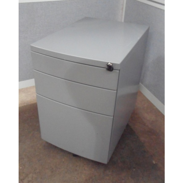 Grey Bow Front Mobile Pedestal