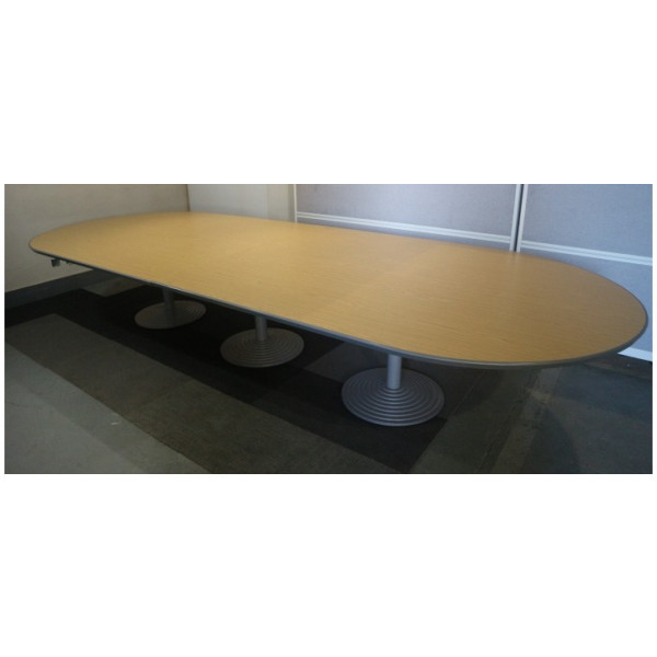 Oval Oak Meeting Table