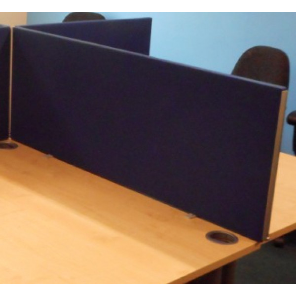 Straight Blue 1200 Desk Mounted Screen