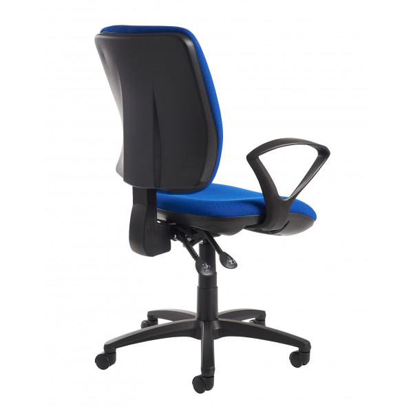 Senza high back fixed arms blue