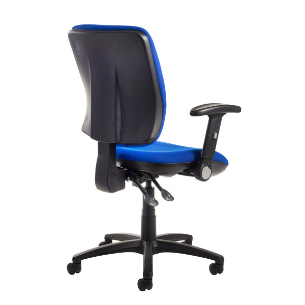 Senza high back folding arms blue