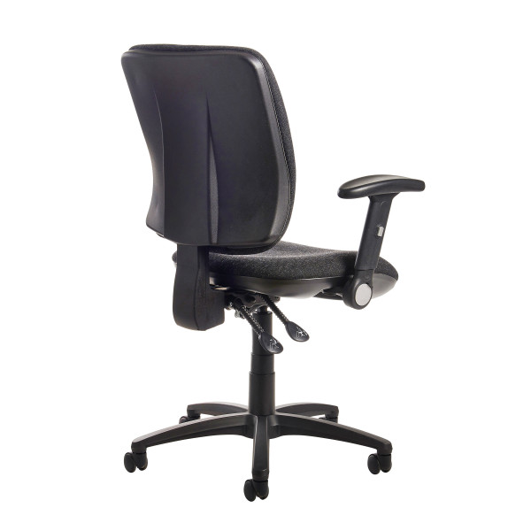 Senza high back folding arms charcoal