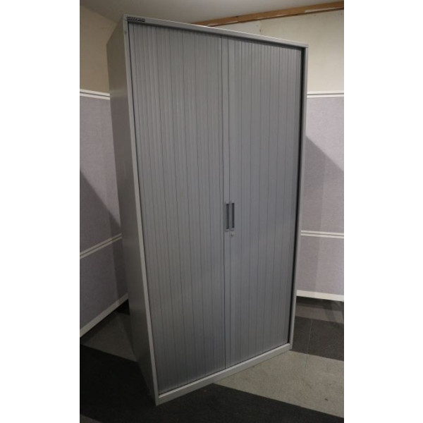 Haworth Grey 2000h Tambour Cupboard