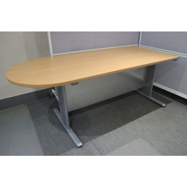 Beech D End 1800 x 800 Meeting Table