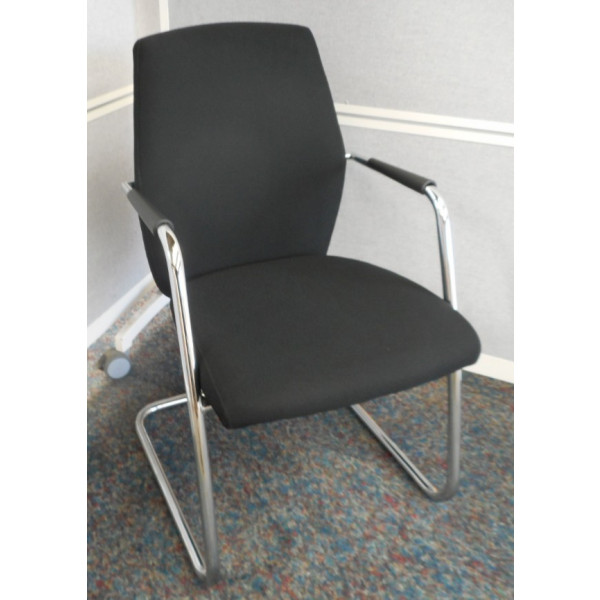 Set of 7 Connection 'Team' Black Meeting Chairs