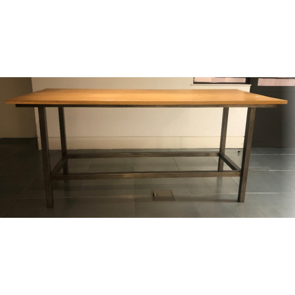 Straight 2300 x 985 Oak High Table