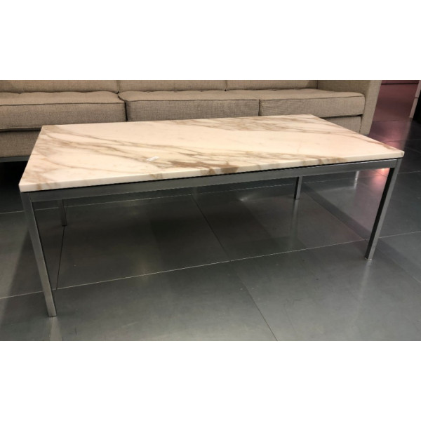 Knoll Florence Low Marble Table - Calacatta Marble