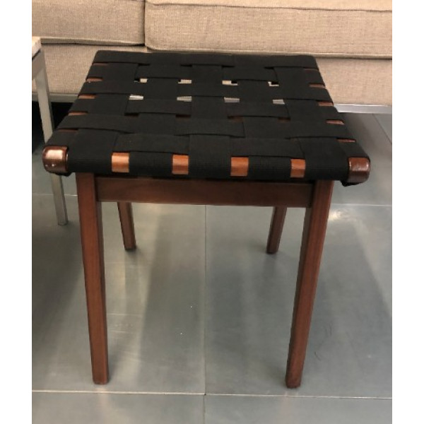 Studio Knoll Risom Black Low Stool