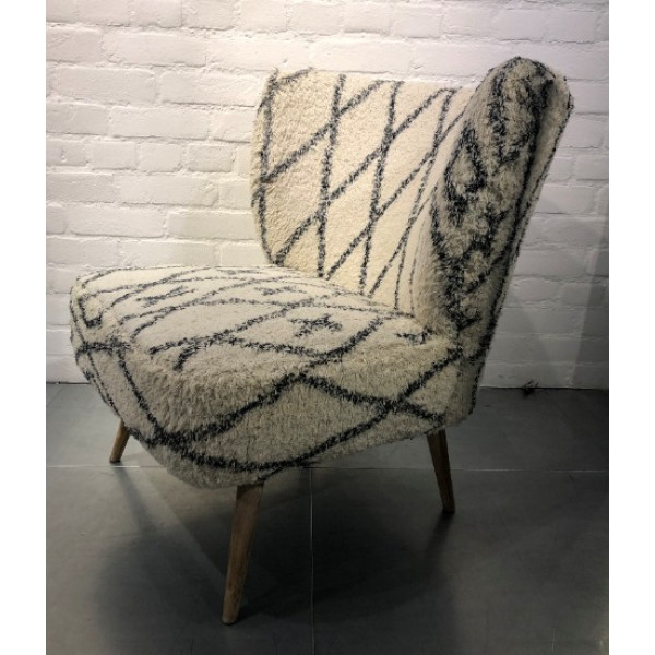 Mina Cotton Printed Lounge Chair