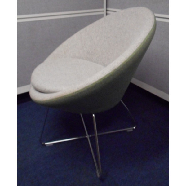 Allermuir Conic A630 Grey/Green Tub Chair