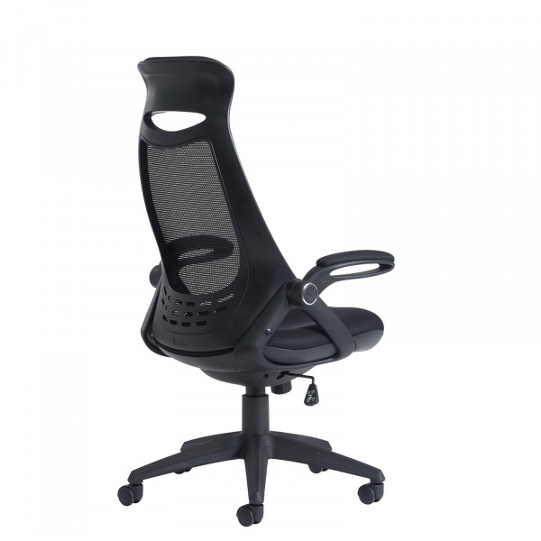 Tuscan mesh chair with head support - black