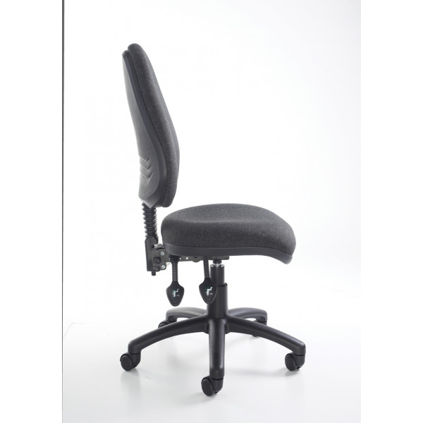 Vantage 100 fabric operator chair with no arms - black