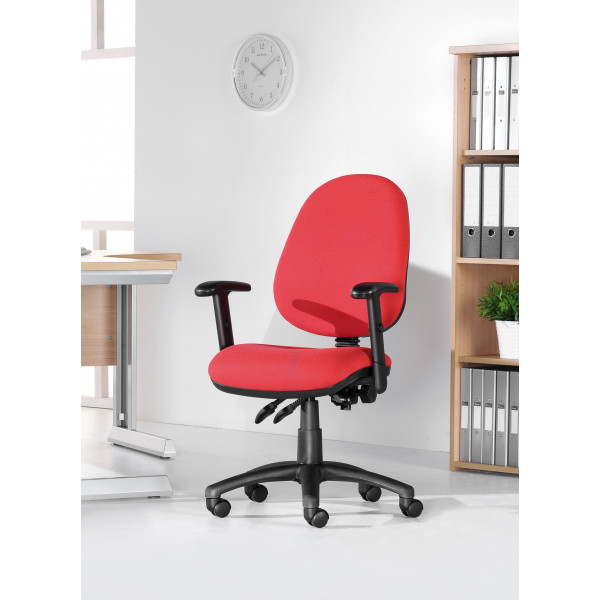Vantage 200 operator chair with adjustable arms - black