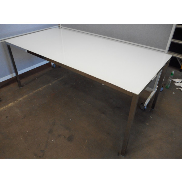 White Glass Top Table 1800 x 800