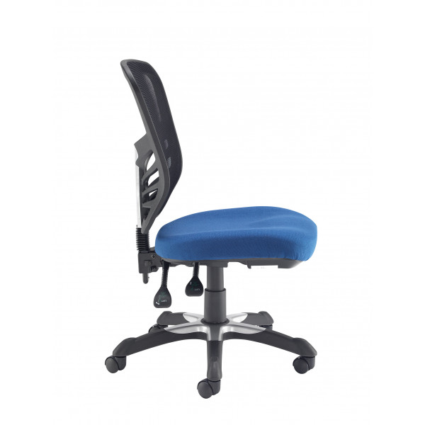 Vantage mesh back 2 lever chair - blue