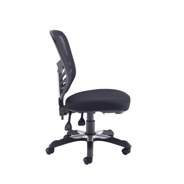 Vantage mesh back 2 lever chair - black