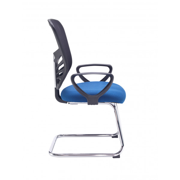 Vantage mesh back visitors chair - blue