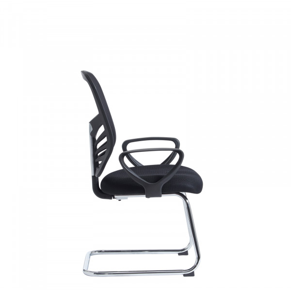 Vantage mesh back visitors chair - black