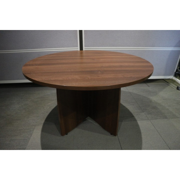 Walnut 1200 dia Meeting Table