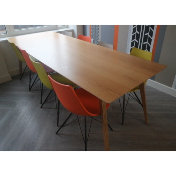 Straight Oak 2400 x 900 Canteen Table