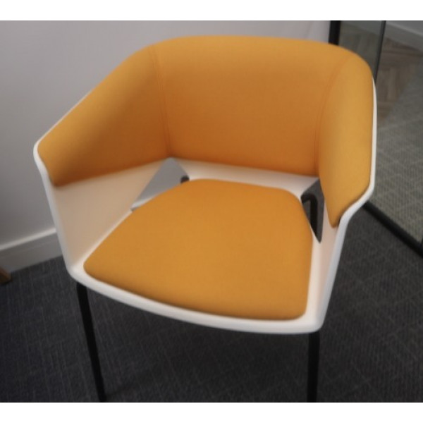 White/Orange Meeting Chair