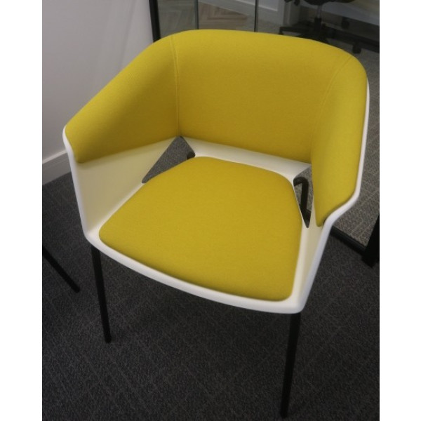 White/Yellow Meeting Chair