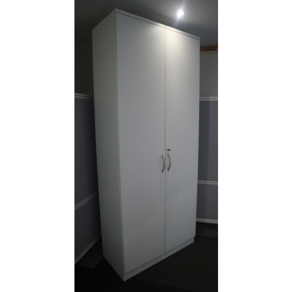 White 2400h D/D Cupboard