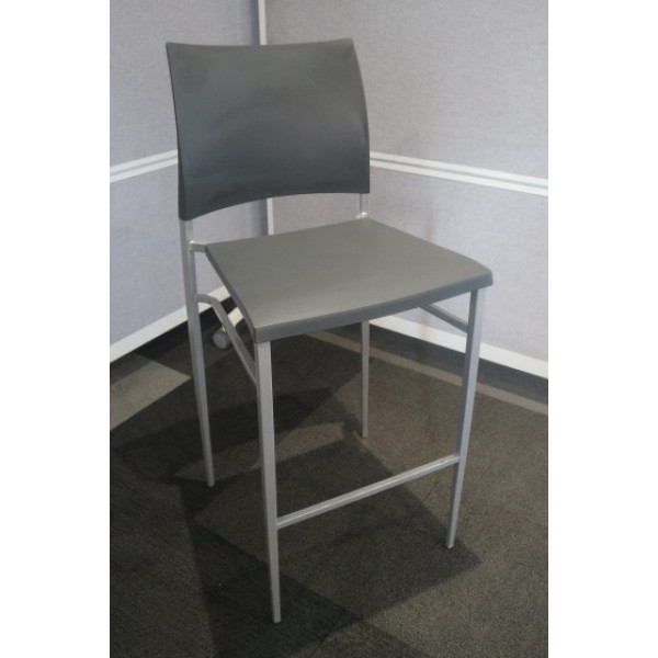 Grey Plastic High Stools