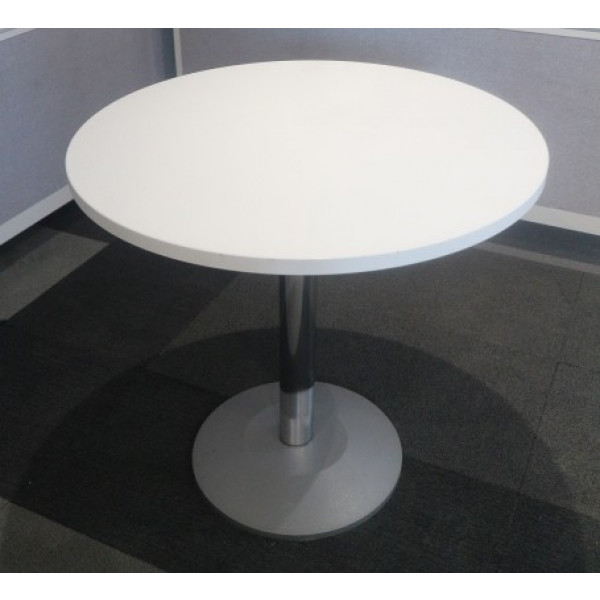 White Circular 800 diameter Canteen Table
